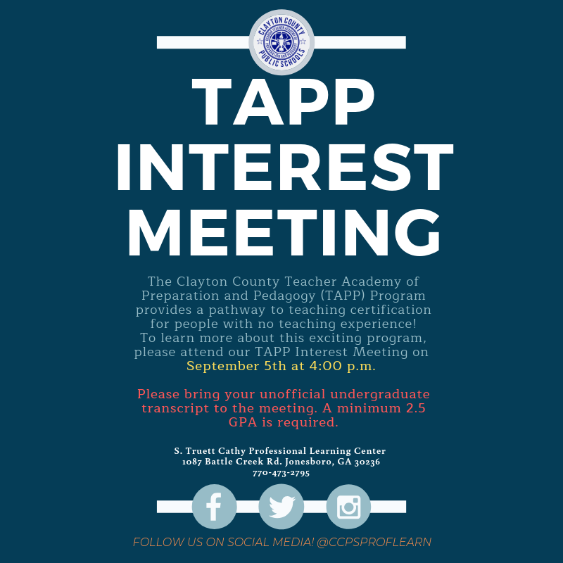 TAPP Interest Meeting September