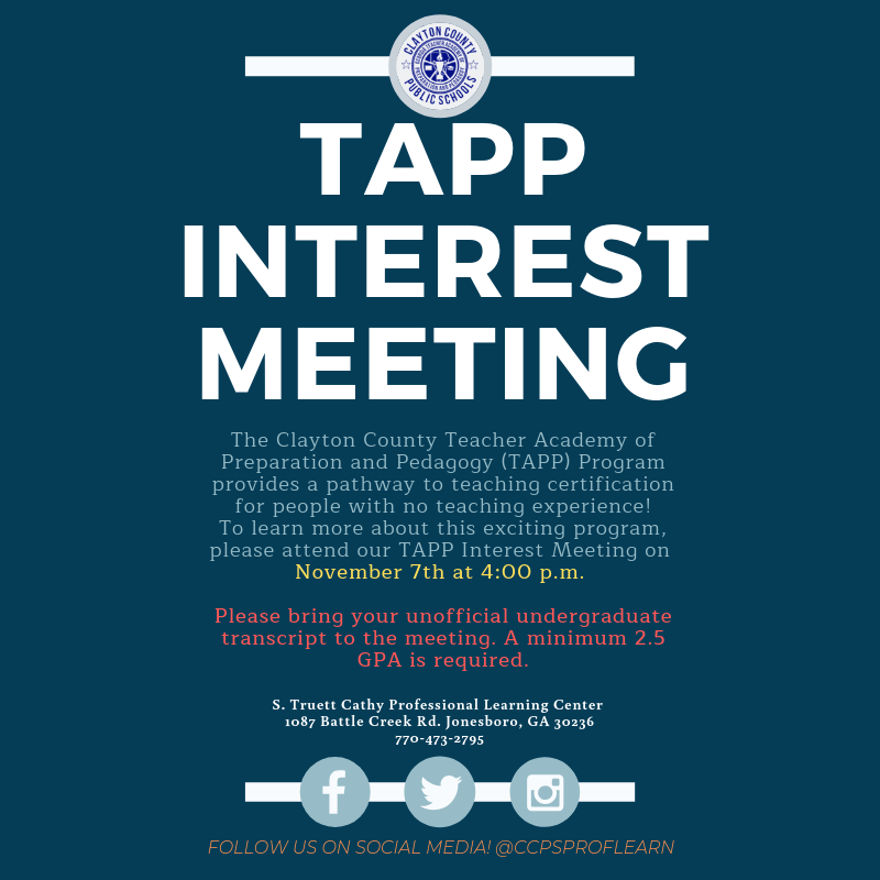 TAPP Interest Meeting November