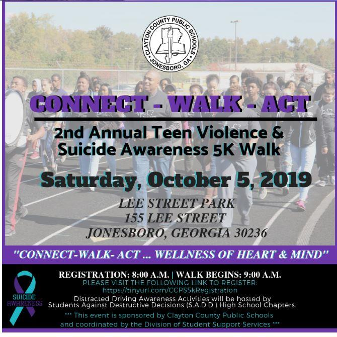 2nd Annual Teen Violence & Suicide Awareness 5k Walk